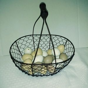 Other - Wire Farmhouse Egg Basket w/Eggs